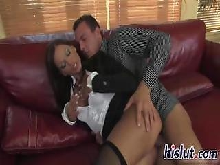 Luscious Bombshell In Stockings Gets Fucked Hard