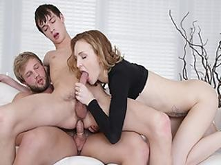 Blonder Anal Fuck By Step Dad On Top While Getting A Blowjob