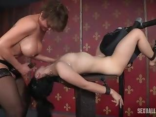 Helpless Girl Handcuffed And Tortured