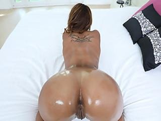 Harley Dean Bouncing Off Her Ebony Pussy On Top