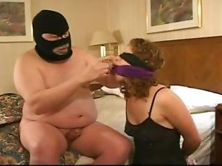 Naked Man Ties Gags And Blindfolds Girl