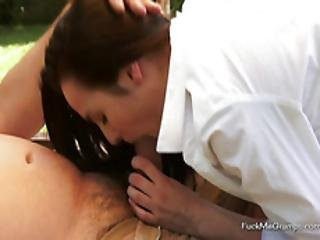 Grandpa Gets Pleasured By A Hot Teen
