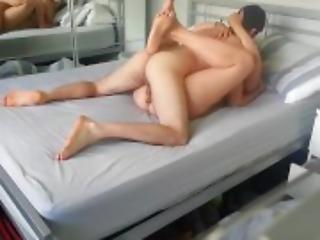 amateur, asiatisch, blasen, brünette, paar, natürlich, natürliche titten, rasiert, vaginal