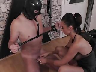 Mistress Tortures Her Slave Dick