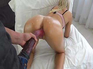 Young Blonde Fucked By A Horse Dick And Creamed