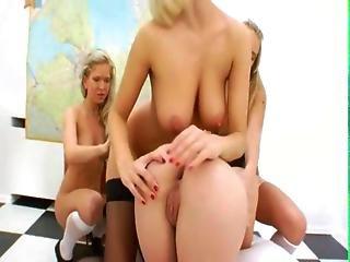 Three Bum Schoolgirls And Their Teacher