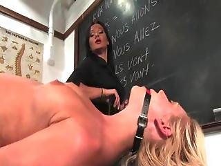Kacey Villainess Has Spanked And Humiliated Inside The Classroom