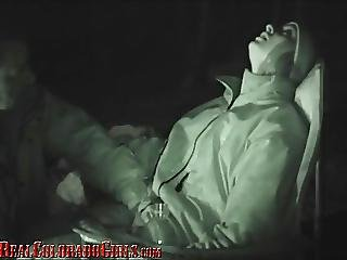 Old Man Gives Adorable Teen Multiple Orgasms By The Campfire