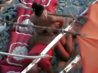 Wife Fucks The Bitch On A Greek Beach
