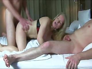 Shameless Busty Cougar Milf Enjoying Double Penetration