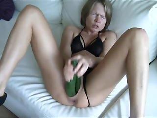 my DP masturbation with 2 cucumbers