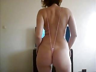 Sexy Wife In Monokini Shakes Her Ass