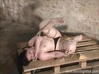 Sexy Fetish Model Caroline Pierce Lesbian Bondage And Tied Damsel In Distre
