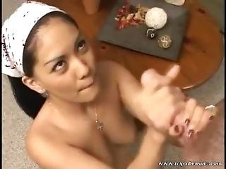 Cute Asian Teen Gets A Cum Facial