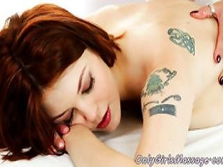 Redhead Les Rimming And Fingering Masseuse