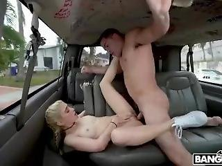 18 Year Old Beauty Hops On The Bus