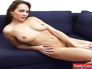 Mind-blowing Brunette Jennfer Fingering Her Cooter
