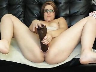 Meaty Pussy Milf Fucks Huge Dildos And Gapes Pussy