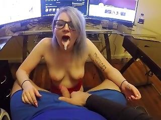 Step Brother Blackmails Sis Into Sucking And Swallowing His Cock...