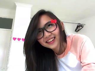Big Tits Asian 18yo Asian Teen Swallows Cum