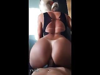 amatör, anal, röv, stor röv, bikini, slyna, stringtrosa