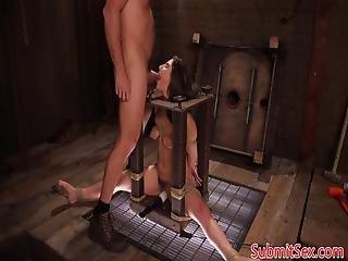 Bondage Teen Deep Throating And Ass Fucking