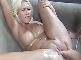 Curvaceous Blonde Is Hungry For A Cock