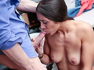 Officer Moans As Lily Ride And Bounce On His Cock