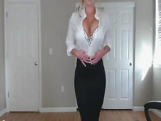 Sexy Blonde Doctor Helps Relieve Your Stress- Anyone Know Her Name