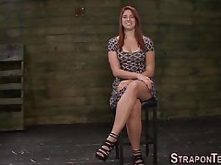 Bdsm, Bondage, Clamped, Domination, Fetish, Fucking, Lesbian, Mistress, Redhead, Slave, Strapon