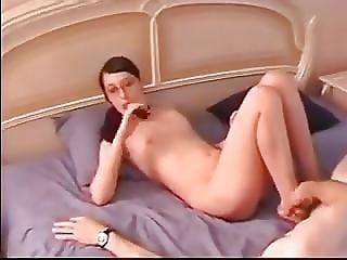 cumshot, spinking, små tuttar, Tonåring, ung