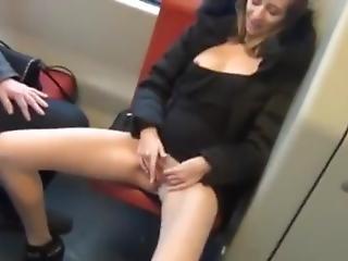 Teen Masturbates In A Train