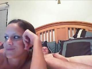 ερασιτεχνικό, πίπα, ζευγάρι, κατάποση, Webcam