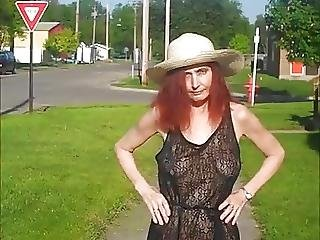 Four Public Flashing Redhot Redhead Show Compilation