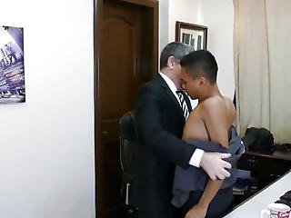 Pinoy Twink Cocksucking Dad In The Office