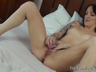 Biker Babe Masturbation With Real Orgasmic Contractions