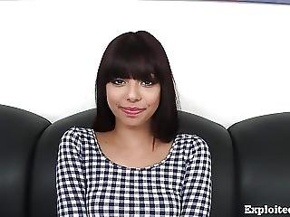 Cute 18 Year Old Latina On Casting Couch