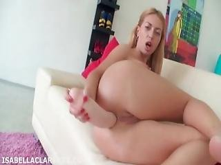 Isabella Clark Gaped And Prolapsed From Brutal Dildo