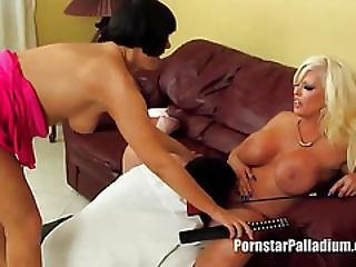Milf Babes Dominate The Mexican Guy