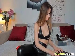 A Naughty Babe Is Wearing Her Latex Lingerie She Is Like Inviting You To Play With Her And Pleasure Her She Enjoys Playing With Her Dildo She Is Very Horny And Has A Wet And Tasty Pussy Just For You