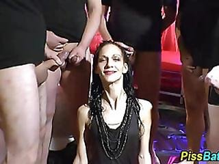 Mature Slut Downs Piss