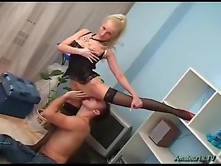 Watch A Masked Ballerina Sucking Dick, Having A Wild 69 And Being Fucked Big Time!