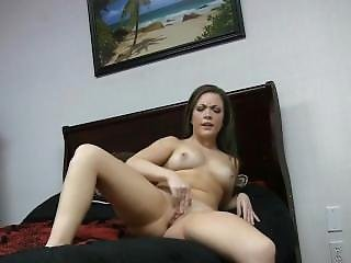 Young Brunette Fingers Pussy.