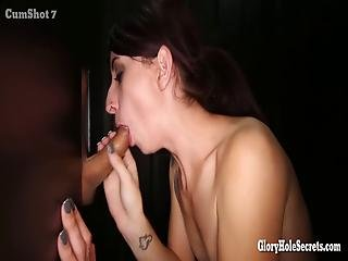 Little Cocksucking Cum Eating Girl Loves Sucking Off Strangers In Gloryhole