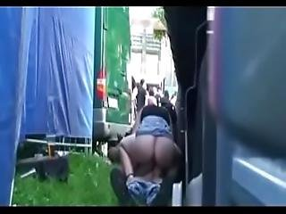 Czech Horny Slut Fucking At Rock Concert With Stranger