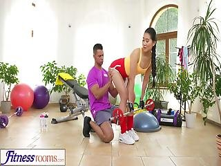 Fitness Rooms Hardcore Gym Fucking And Facial For Cute Asian Babe