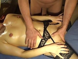 Sensual Massage, Anal Training With Plug And Orgasm