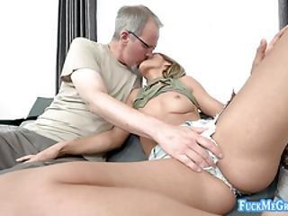 Lucky Granny Smooch A Desperate Slut
