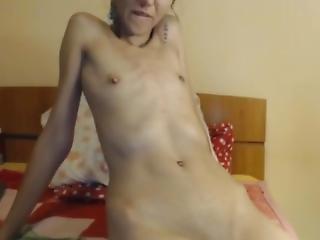Slim Flat-chested Girl Teasing