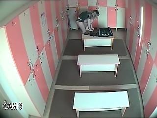 Locker Room And Two Women